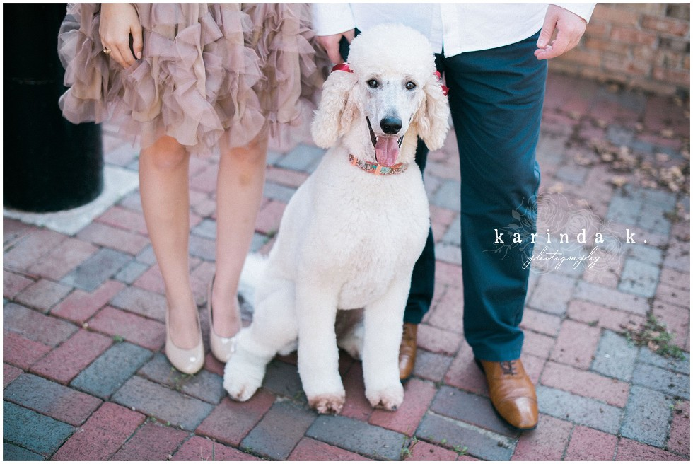 Houston Wedding Photographer with Poodle